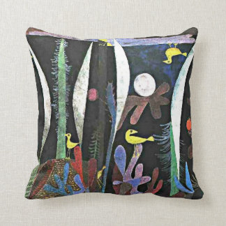 Paul Klee art: Landscape with Yellow Birds Throw Pillow