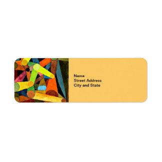 Paul Klee art: Opened Mountain Return Address Label