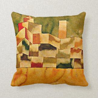 Paul Klee art: Oriental Architecture Throw Pillow