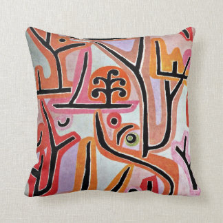 Paul Klee art - Park Bei Lu Throw Pillow