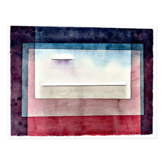 Paul Klee art: Resting, painting by Paul Klee Postcard