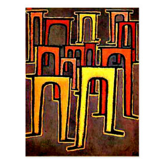 Paul Klee art - Revolution of the Viaduct-1937 Postcard