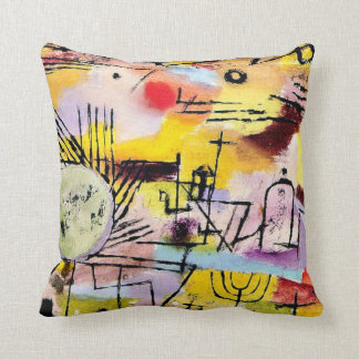 Paul Klee art: Rising Sun Throw Pillow