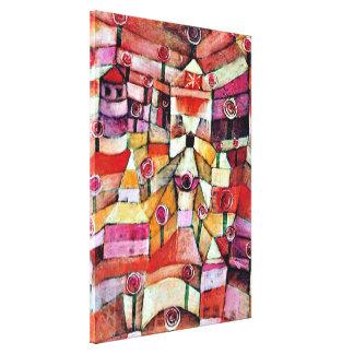Paul Klee art: Rose Garden, famous Klee painting Canvas Print