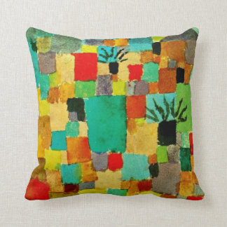 Paul Klee art - Southern (Tunisian) Gardens Throw Pillow