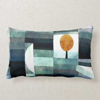 Paul Klee art: The Messenger of Autumn Lumbar Pillow