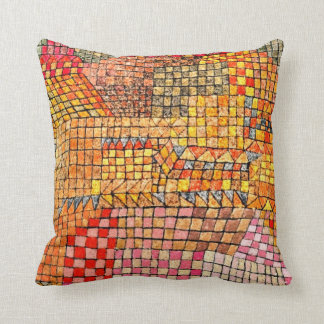 Paul Klee art: Town Castle Kr. Throw Pillow