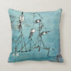 Paul Klee art: Twittering Machine Throw Pillow