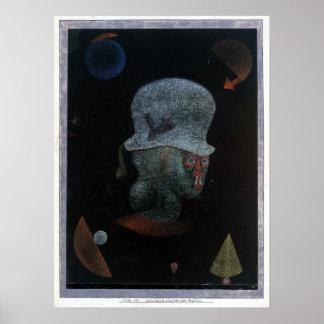 Paul Klee Astrological Fantasy Portrait Poster