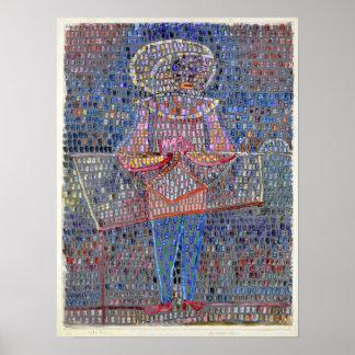 Paul Klee Boy in Fancy Dress Poster