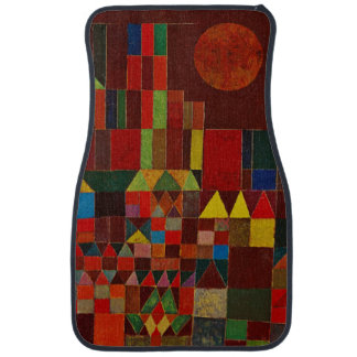 Paul Klee Castle And Sun Colorful Abstract Art Car Mat