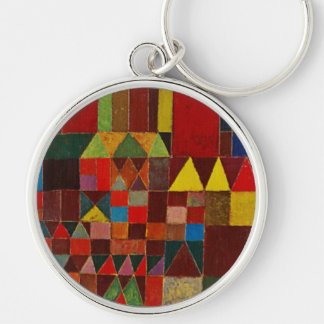 Paul Klee Castle And Sun Silver-Colored Round Keychain