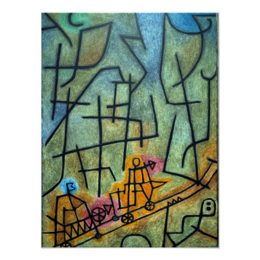 Paul Klee Conquest of the Mountain Poster