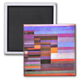 Paul Klee - Fire Evening Square Magnet