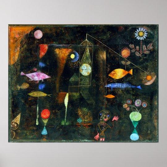 Paul Klee Fish Magic Poster
