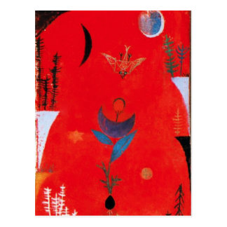 Paul Klee Flower Myth Postcard
