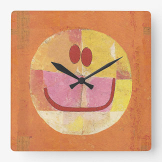 Paul Klee Happy Face Clock