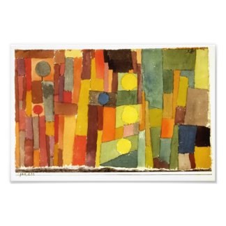 Paul Klee In The Style Of Kairouan Watercolor Art Photo Print