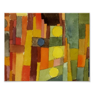 Paul Klee In The Style Of Kairouan Watercolor Art Poster