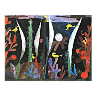 Paul Klee: Landscape with Yellow Birds painting Postcard