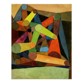 Paul Klee Opened Mountain Abstract Poster