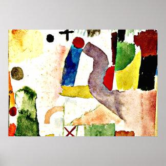 Paul Klee - Pathetic Watercolor Poster