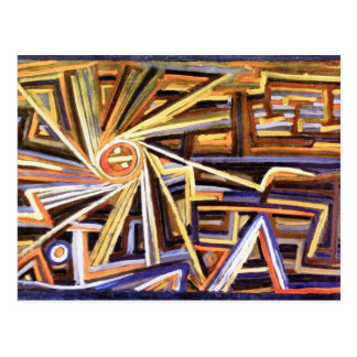 Paul Klee - Radiation and Rotation - Abstract Art Postcard