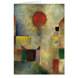 Paul Klee Red Balloon Card