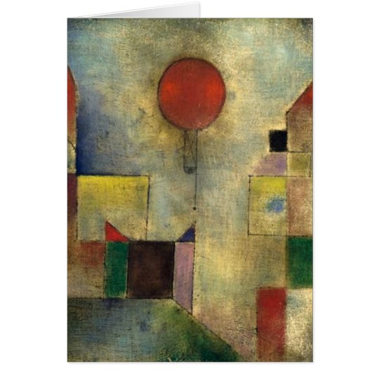 Paul Klee Red Balloon Card