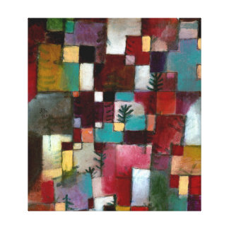 Paul Klee Red Green and Violet-Yellow Rhythms Canvas Print