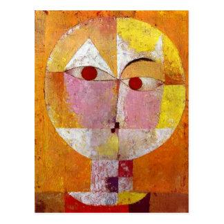 Paul Klee Senecio Painting Postcard