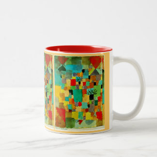Paul Klee - Southern (Tunisian) Gardens Two-Tone Coffee Mug