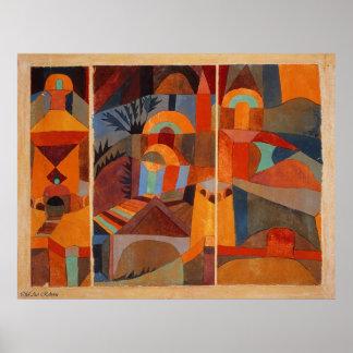 Paul Klee Temple Garden Poster