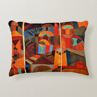 Paul Klee - Temple Gardens Decorative Pillow