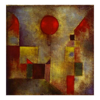 Paul Klee The Red Balloon Poster