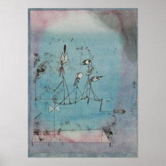 Paul Klee Twittering Machine Poster