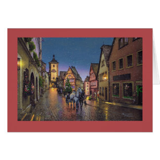 "Paul McGehee ""Christmas in Rothenburg"" Card"