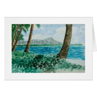"Paul McGehee ""Diamond Head - Oahu, Hawaii"" Card"
