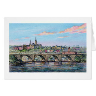 "Paul McGehee ""Georgetown - Key Bridge"" Card"
