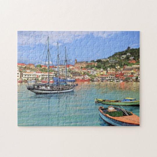 "Paul McGehee ""Grenada - St.George's Harbour"" Jigsaw Puzzle"