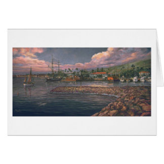 "Paul McGehee ""Lahaina Harbor at Twilight"" Card"