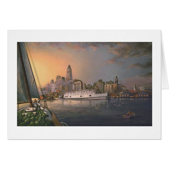 """Paul McGehee """"Old Baltimore at Twilight"""" Card"""