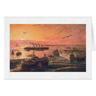 "Paul McGehee ""Old New York Harbor"" Card"