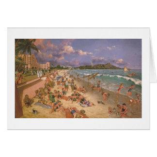 "Paul McGehee ""On the Beach at Waikiki"" Card"