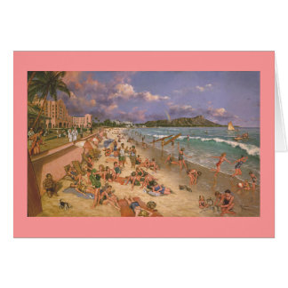 "Paul McGehee ""The Beach at Waikiki"" Christmas Card"