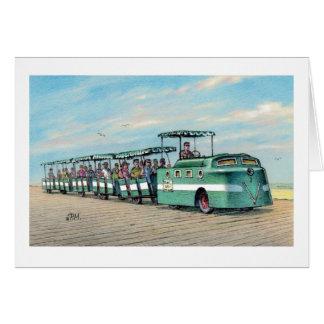 """Paul McGehee """"The Boardwalk Train"""" Card"""