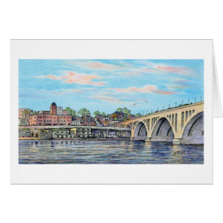 "Paul McGehee ""The Georgetown Waterfront"" Card"