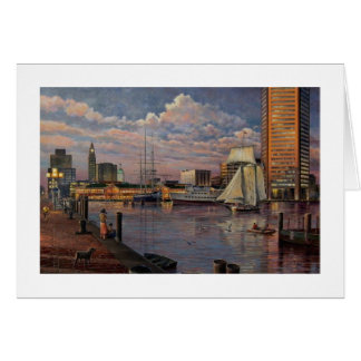 "Paul McGehee ""The Inner Harbor of Baltimore"" Card"