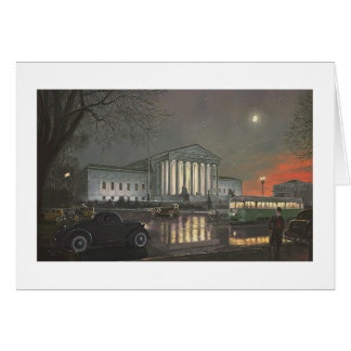 "Paul McGehee ""The Supreme Court by Moonlight"" Card"