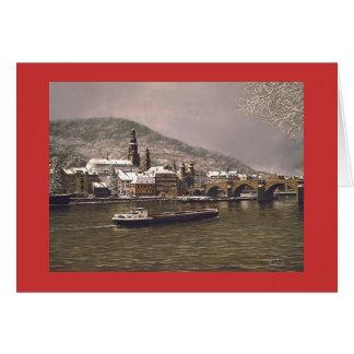 """Paul McGehee """"Winter in Heidelberg"""" Holiday Card"""